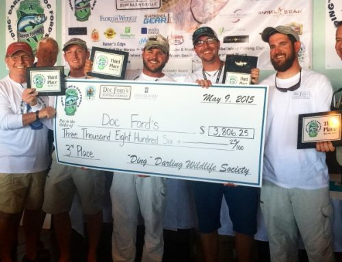 Ding darling doc fords tarpon tournament 3rdplace finish